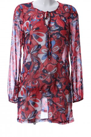edc Long-Bluse Allover-Druck Casual-Look