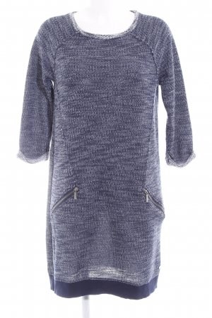 edc Long Sweater dark blue-white flecked casual look