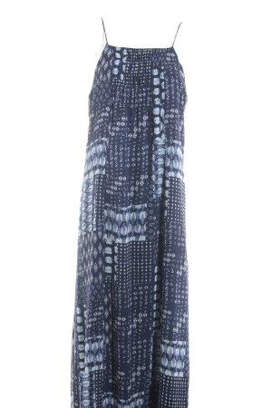 edc Maxikleid dunkelblau-wollweiß abstraktes Muster