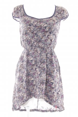 edc Midi Dress slate-gray-grey lilac floral pattern casual look