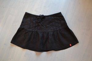 edc Minirock aus Leinen schwarz Gr. 34