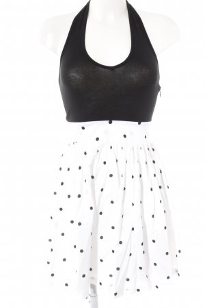 edc Halter Dress white-black spot pattern casual look