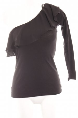edc One-Shoulder-Shirt schwarz Casual-Look