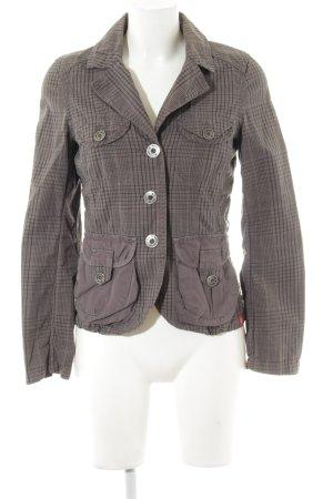 edc Outdoor Jacket black-grey brown check pattern casual look