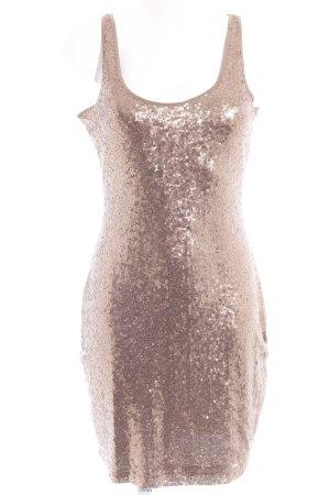 edc Vestido de lentejuelas color bronce-marrón claro elegante