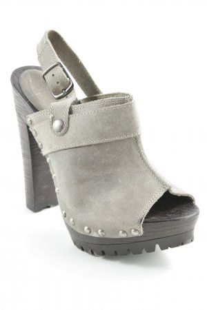 edc Platform High-Heeled Sandal dark brown-sage green extravagant style