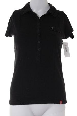 edc Polo-Shirt schwarz Casual-Look