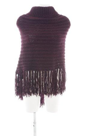 edc Poncho lila kabel steek casual uitstraling