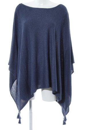 edc Poncho donkerblauw gestippeld straat-mode uitstraling