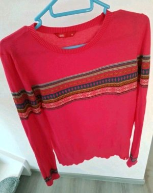 edc Pullover Gr. M pink mit Ethno Muster