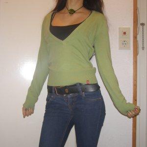 edc Pullover tief ausgeschnitten hellgrün