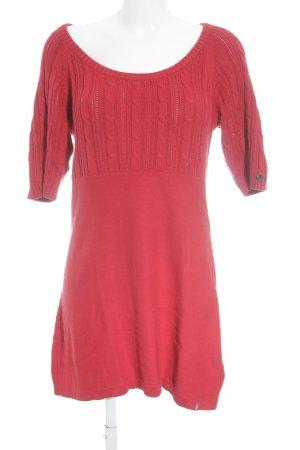 edc Vestido tipo jersey rojo look casual