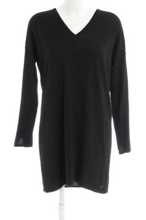 edc Sweaterjurk zwart casual uitstraling