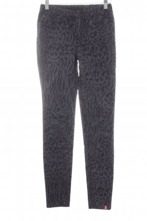 edc Tube jeans zwart-grijs luipaardprint casual uitstraling