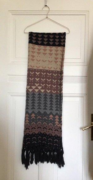 EDC - Schal mit geometrischem Muster und Fransen