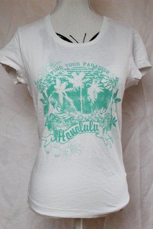 EDC Shirt grün/weiß Gr. M