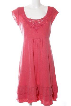 edc Vestido estilo camisa rojo look casual