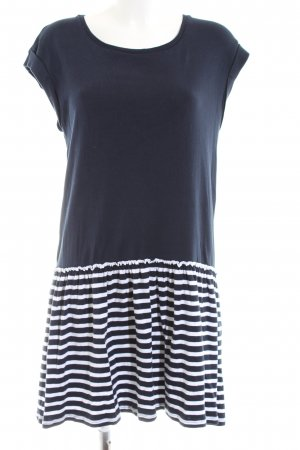 edc Vestido estilo camisa azul-blanco estampado a rayas look casual