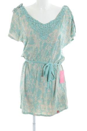 edc Robe t-shirt crème-turquoise motif floral Look de plage