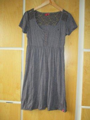 EDC Shirtkleid, grau, Spitzeneinsatz im Schulter/Rückenbereich