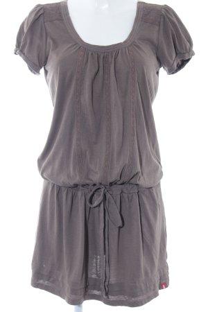 edc T-shirt jurk grijs-bruin casual uitstraling