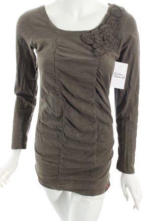 Edc Shirtkleid khaki schlichter Stil