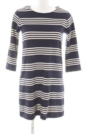 edc T-shirt jurk wit-donkerblauw casual uitstraling