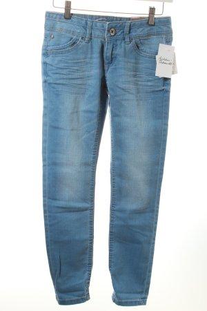 Edc Skinny Jeans himmelblau-wollweiß Urban-Look
