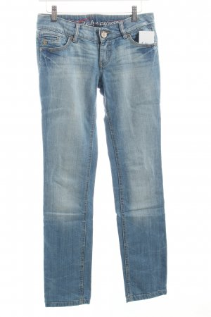 Edc Slim Jeans kornblumenblau-wollweiß Casual-Look