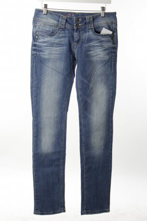 Edc Slim Jeans stahlblau-wollweiß Casual-Look