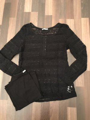 edc by Esprit Crochet Shirt black