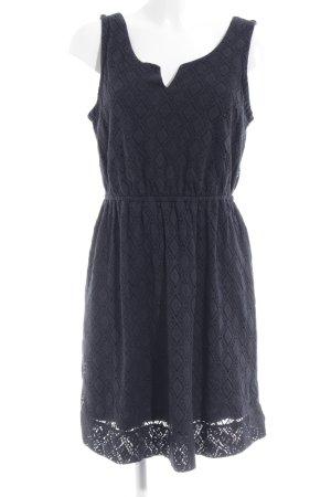 edc Kanten jurk donkerblauw casual uitstraling