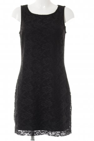 edc Kanten jurk zwart casual uitstraling