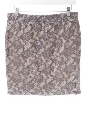 edc Lace Skirt light grey-cream business style