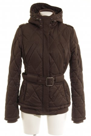 edc Quilted Jacket dark brown casual look