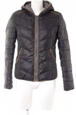edc Quilted Jacket dark grey quilting pattern athletic style