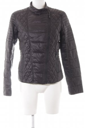 edc Quilted Jacket black quilting pattern casual look