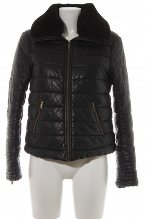edc Steppjacke schwarz Steppmuster Casual-Look