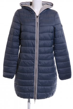 edc Quilted Coat blue-light grey quilting pattern business style