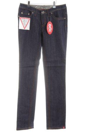 edc Straight-Leg Jeans blau Casual-Look