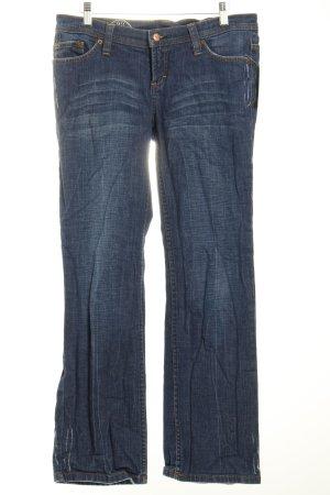 Edc Straight-Leg Jeans dunkelblau Casual-Look