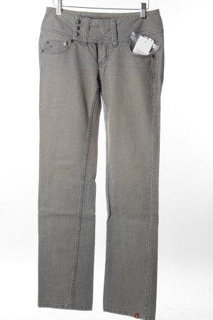 Edc Straight-Leg Jeans hellgrau-wollweiß Casual-Look