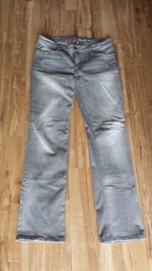 edc straigt Jeans hellgrau