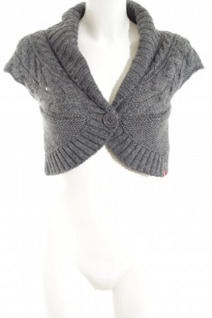 edc Knitted Bolero light grey cable stitch casual look