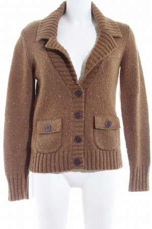 edc Strickjacke hellbraun Casual-Look