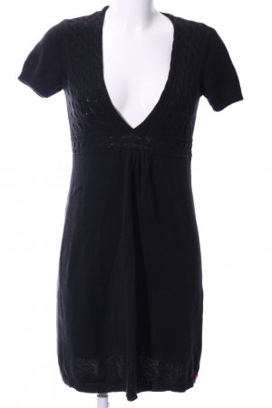 edc Gebreide jurk zwart casual uitstraling