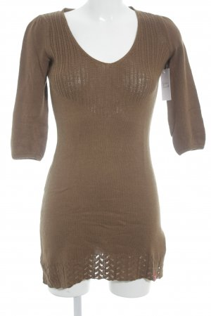 edc Knitted Dress light brown casual look