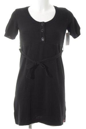 edc Strickkleid schwarz schlichter Stil