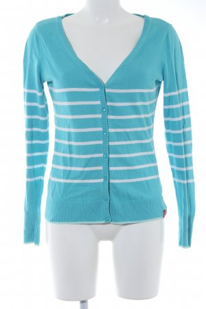 edc Knitted Coat turquoise-white striped pattern casual look