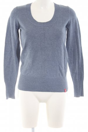 edc Knitted Sweater blue flecked casual look